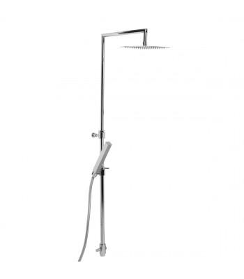 Colonna doccia in ottone telescopica h. 80/120 cm per esterno doccia