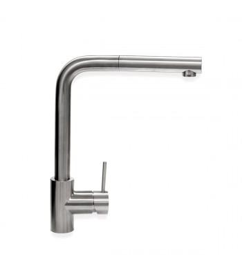 Miscelatore lavello in acciaio inox con doccia estraibile