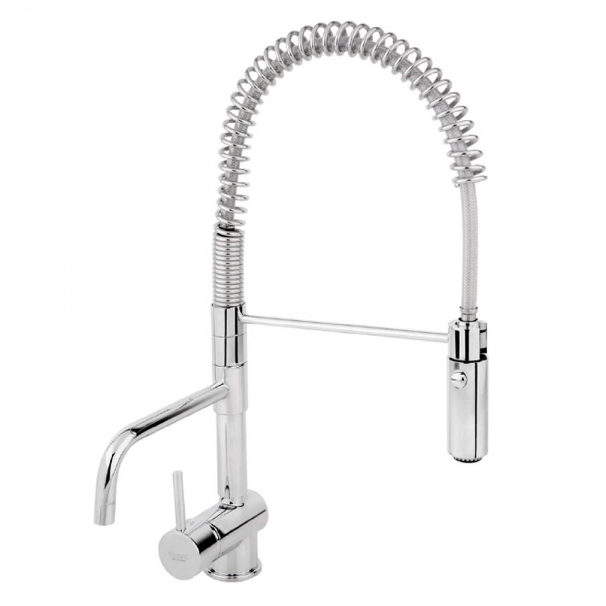 Miscelatore lavello professionale h 50 con deviatore e - Lavello cucina professionale ...