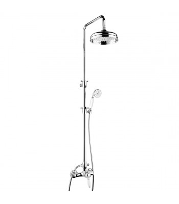 Built-in single-lever shower mixer with column shower head ø 200 and shower kit
