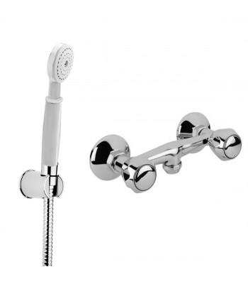 Gruppo doccia esterno con doccia, supporto e flessibile