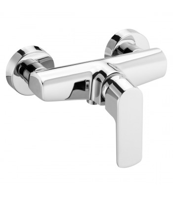 Single-lever external shower mixer without shower kit