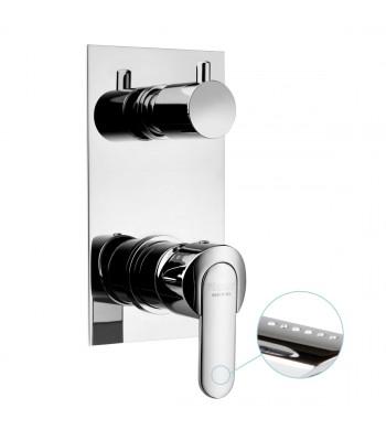 Miscelatore monocomando incasso doccia con deviatore 2 vie manuale