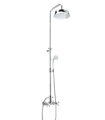 External shower mixer with shower column shower head Epoque ø 217 and shower kit