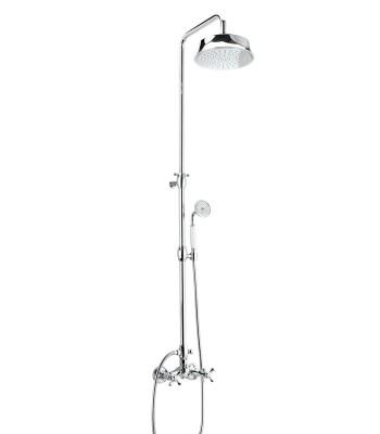External shower mixer with shower column shower head Epoque ø 217 and shower kit