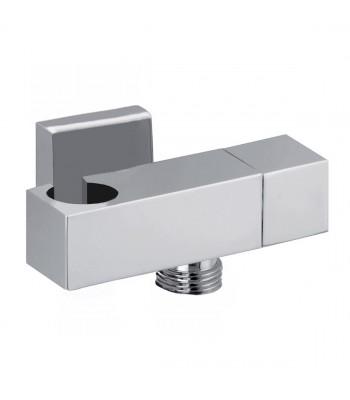 Presa acqua in ottone  quadrata con rubinetto