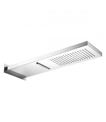 Prince Duo Shower head in polished stainless steel 537x165 mm