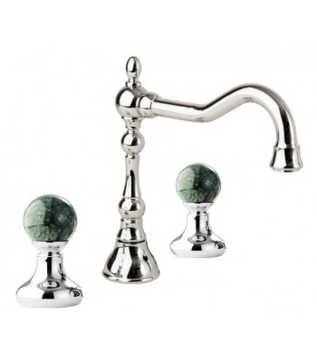 """3 holes wash basin mixer with automatic pop-up waste 1"""" 1/4"""""""