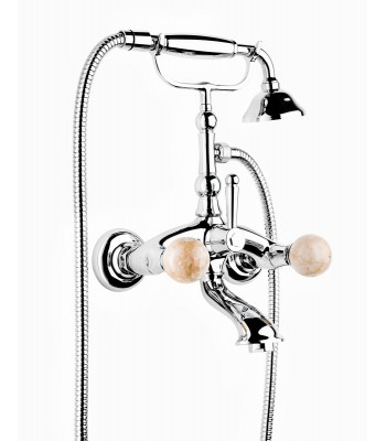 External bath mixer with shower kit