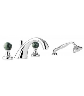 Desk bath mixer 4 holes with shower