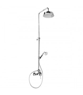 External bath mixer and shower kit with column shower head ø 200