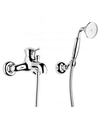Monocomando vasca esterno con kit doccia