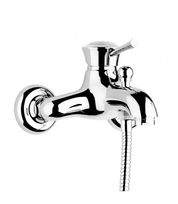 Single-lever external bath mixer without shower kit