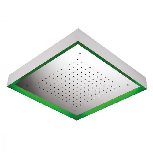 Soffione MOON in acciaio inox da soffitto esterno 570X570