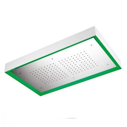 Soffione MOON in acciaio inox da soffitto esterno 770x470