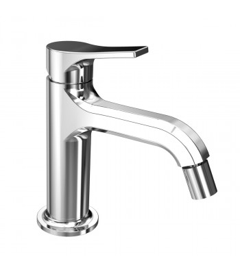 Single-lever bidet mixer  with clic-clac waste