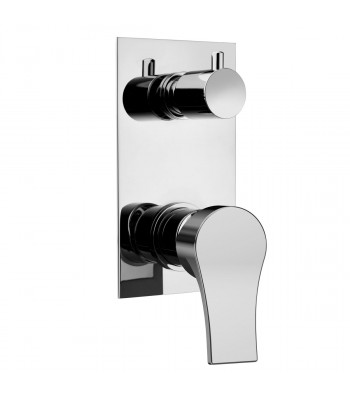 Built-in single-lever shower mixer with manual diverter 4 ways