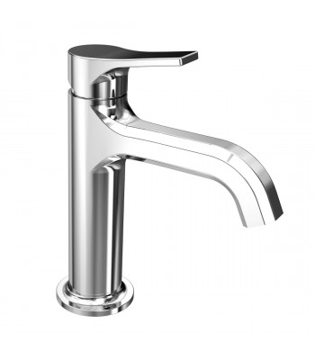 Single-lever basin mixer  with clic-clac waste