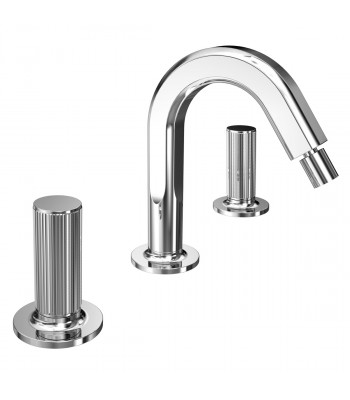 3 holes bidet mixer  with clic-clac waste