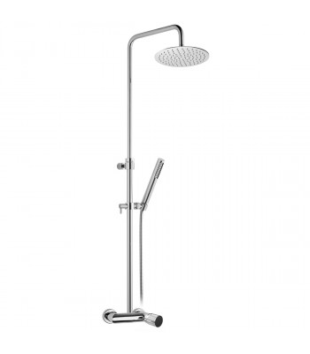 Single lever external shower mixer complete with shower column, ss shower head Ø 200 and shower kit