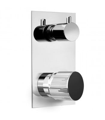 Built-in single-lever shower mixer with manual diverter 2 ways