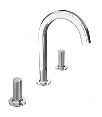 3 holes basin mixer  with clic-clac waste