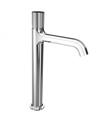 Single lever basin mixer prolungated with clic-clac waste