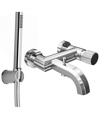 Single lever external bath  mixer with shower kit