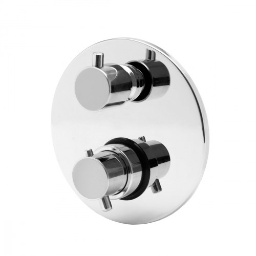 Thermostatic built-in mixer with 3 ways diverter.