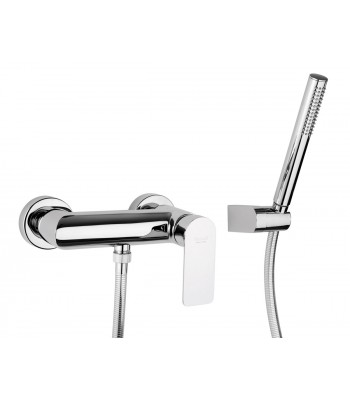 Single-lever external shower mixer with flexible cm 150 and shower support