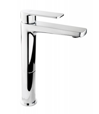 "Single lever basin mixer prolunged and 1"" 1/4 clic-clac"