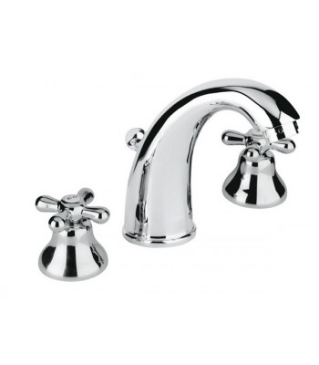 """3 holes wash basin mixer with automatic pop-up 1"""" 1/4"""""""