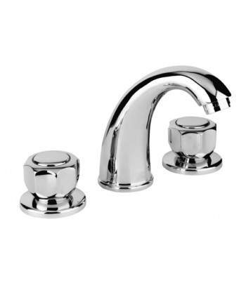 3 holes basin mixer set with 1 pop-up waste