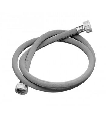 Tubo di carico per lavatrice 93°C 3/4 femmina/femmina in sacchetto e cavallotto