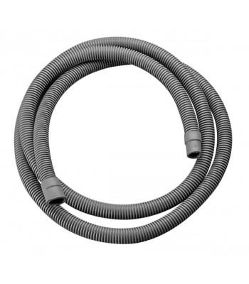 Tubo di scarico per lavatrice corrugato con terminale in gomma e curva di supporto in sacchetto e cavallotto