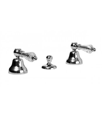 """3 holes wash bidet mixer with automatic pop-up waste 1"""" 1/4"""""""