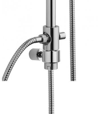 Colonna doccia in ottone telescopica h. 120 cm per esterno doccia