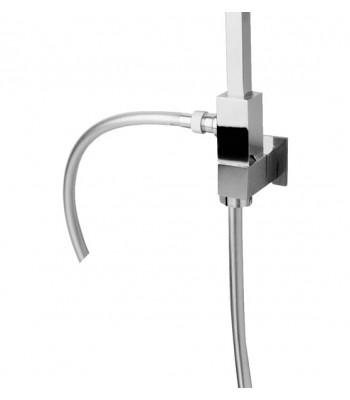Colonna doccia Kubik in ottone h. 90 cm