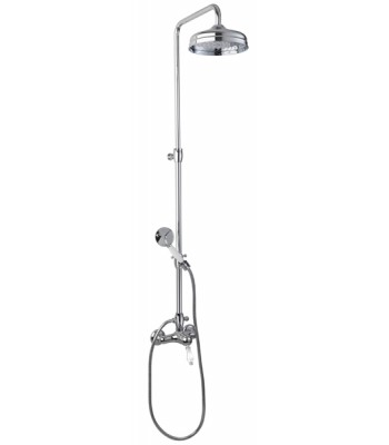 Single-lever external shower mixer with coloumn and shower kit head ø 200