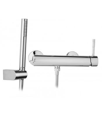 Miscelatore monocomando esterno doccia con doccia, flessibile cm 150 e supporto