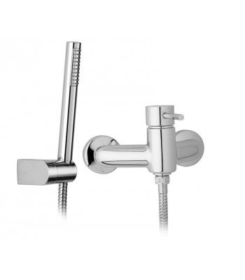 Miscelatore monocomando esterno doccia con flessibile cm 150, supporto e doccia
