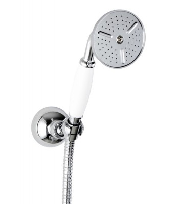 Kit composed by elegant handshower, wall support and flex hose cm 150