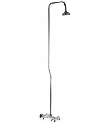 Gruppo esterno doccia con attacco alto e colonna doccia 1/2x3/4 con soffione doccia standard