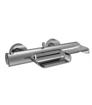 Single-lever external bath mixer without shower kit
